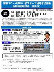 H30関東ブロック地域特別研修会ポスター,要項のサムネイル